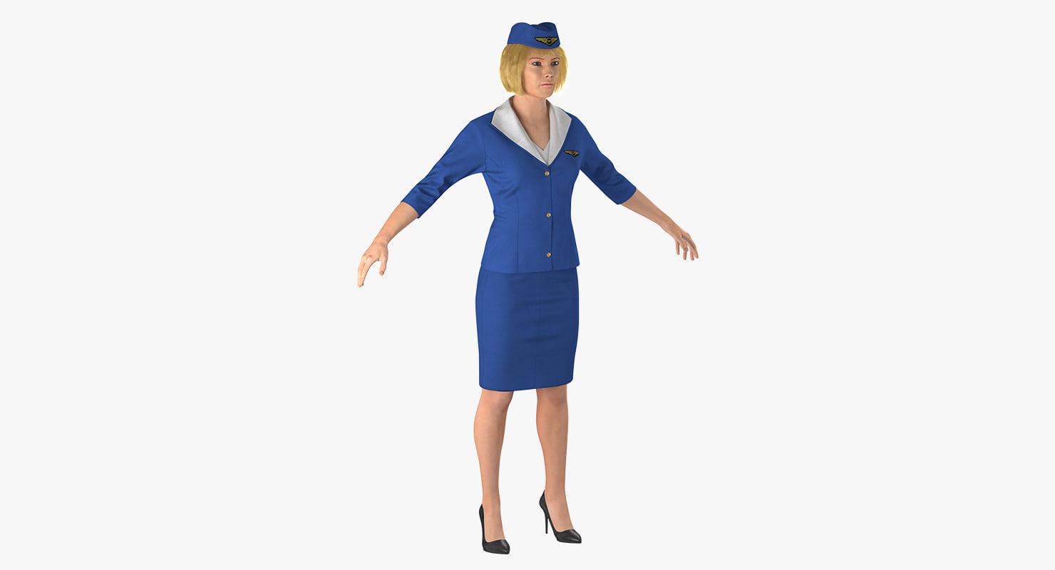 3D woman female