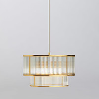 MODERN DOUBLE TIERED GEM PENDANT by arhaus