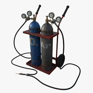 gas cylinders 3D model