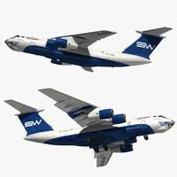 3D ilyushin il-76 silkway model
