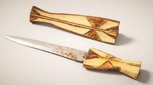 realism knife 3D model