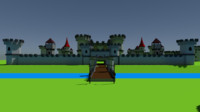 3D cartoon medieval castle kit