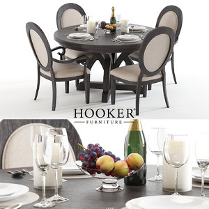 3D set hookers corsica table chair
