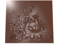 3D model bas relief cartoon characters