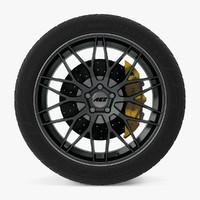 crest dark disk car wheel 3D model