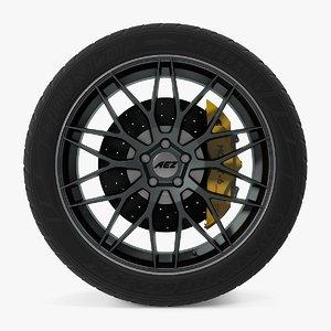 crest dark disk car wheel 3D model