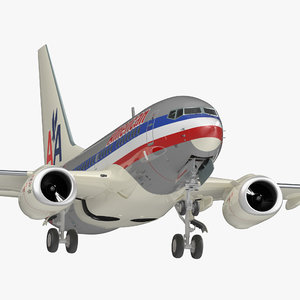 3D model boeing 737-600 american airlines