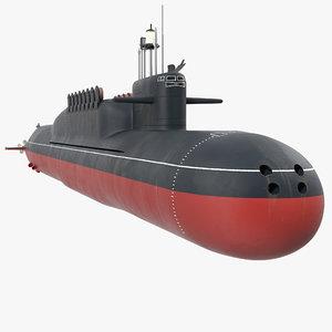russian nuclear strategic submarine 3D model