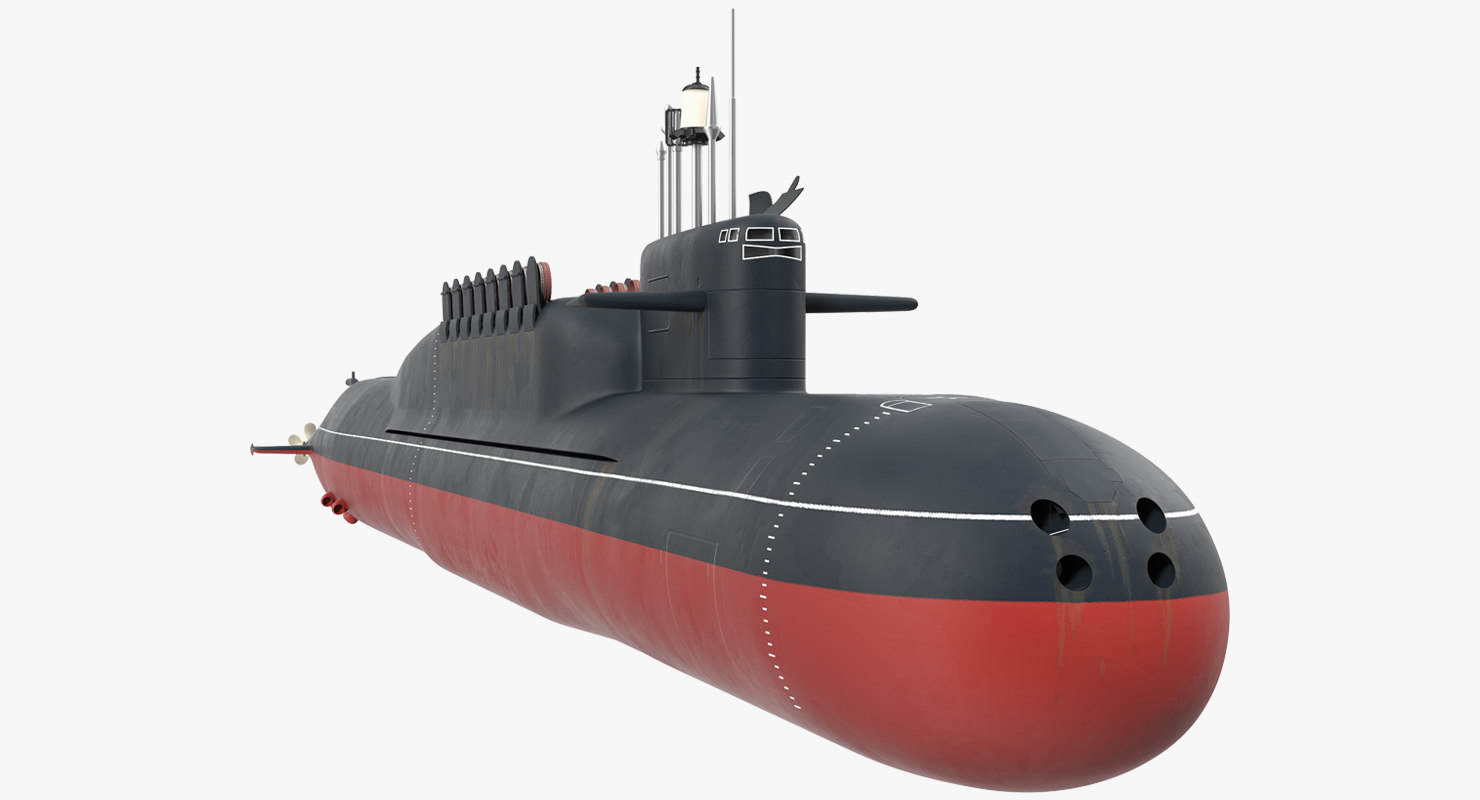 russian nuclear strategic submarine 3D model
