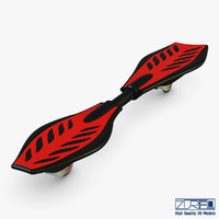 3D razor ripstik classic red model