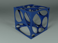 abstract voronoi cube model