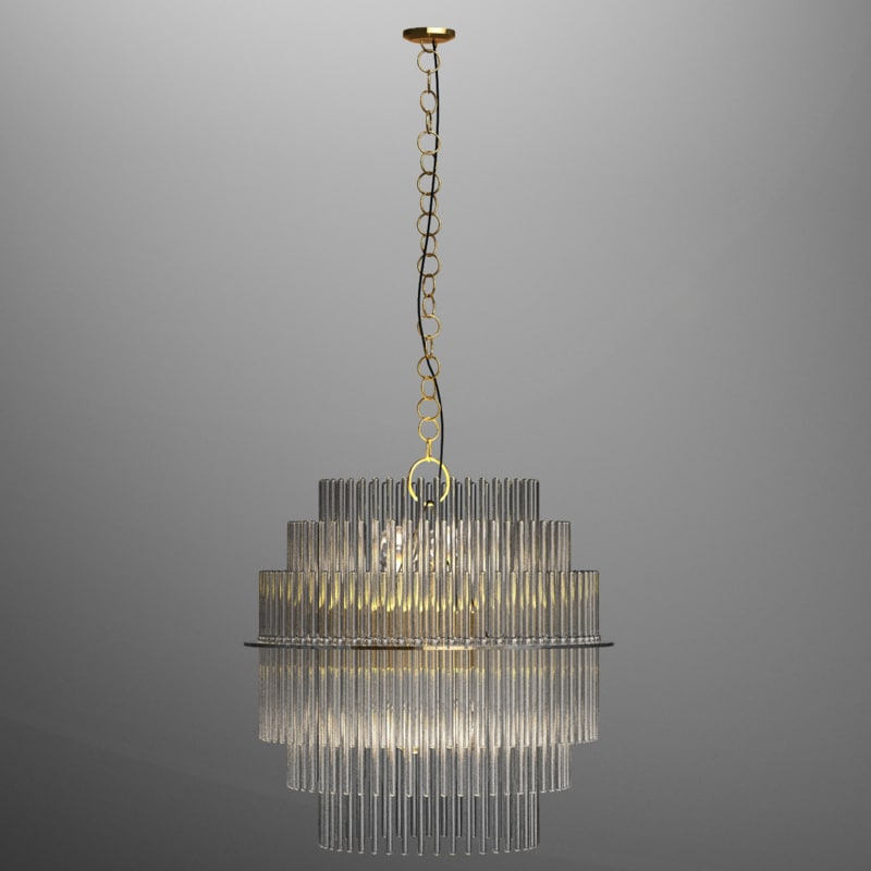3D gaetano sciolari lightolier chandelier model