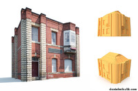 Apartment House #161 Low Poly 3d Model