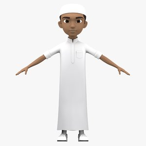 3D arabian boy character model