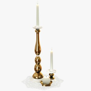 candlesticks candles napkin model