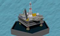 oil environment oilrig model