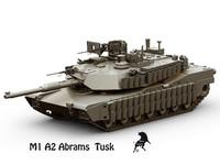 M-1 A2  Abrams  Tusk