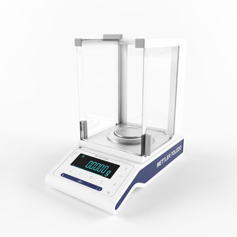 laboratory balances 3D model