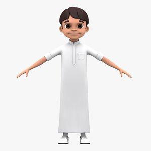 3D arabian boy character