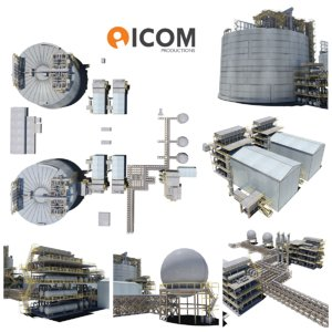 industrial natural gas plant 3D