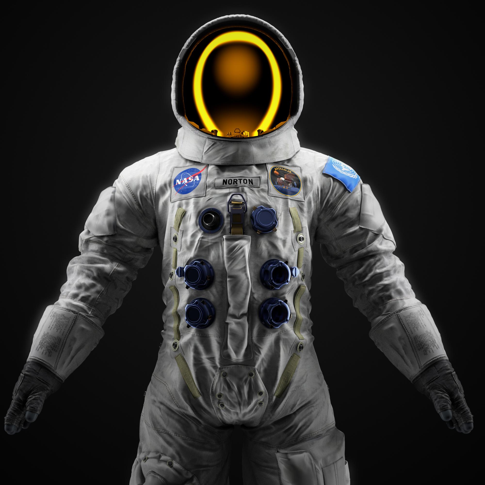 3D spacesuit apollo suit