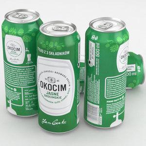 beer okocim 3D model