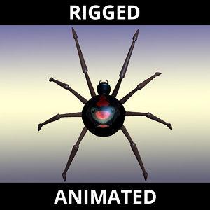black widow spider animation model