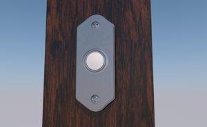 3D doorbell door bell ring