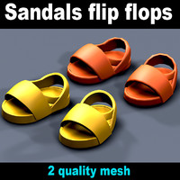 3D sandals meshes model