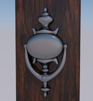 3D door knocker