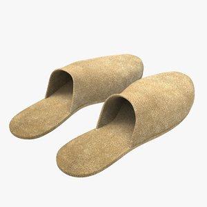 velvet slippers 3D model