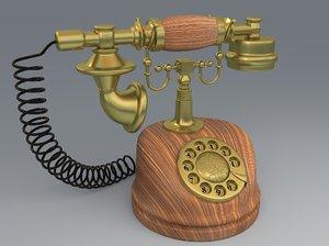 3D vintage modelled model