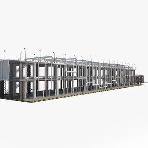 industrial refinery oil 3D model