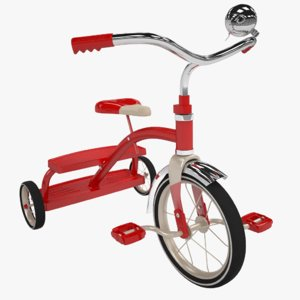 3D model kids tricycle