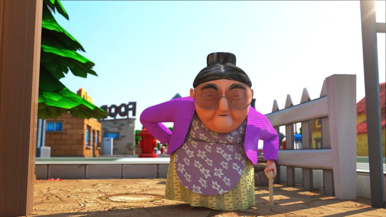 3D old lady model