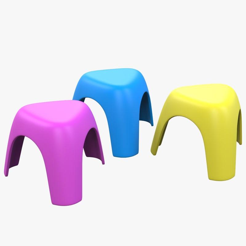 child stools 3D