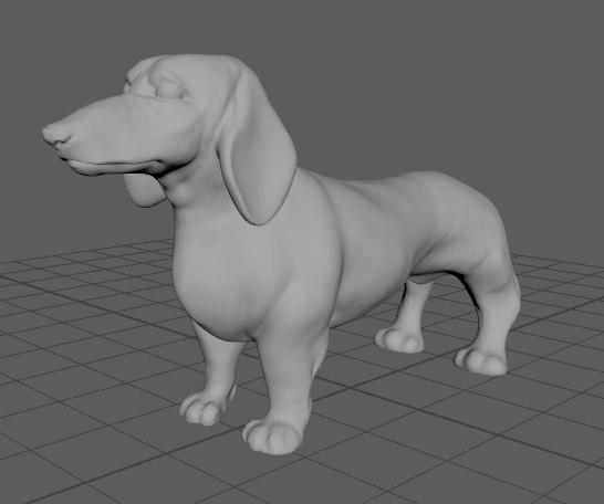 dachshund dog 3D model
