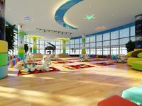colorful kindergarten 001 3D model