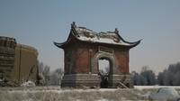3D snow shabby temple gate