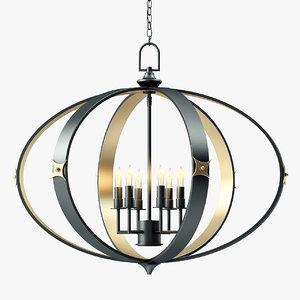 currey company huntsman chandelier 3D model