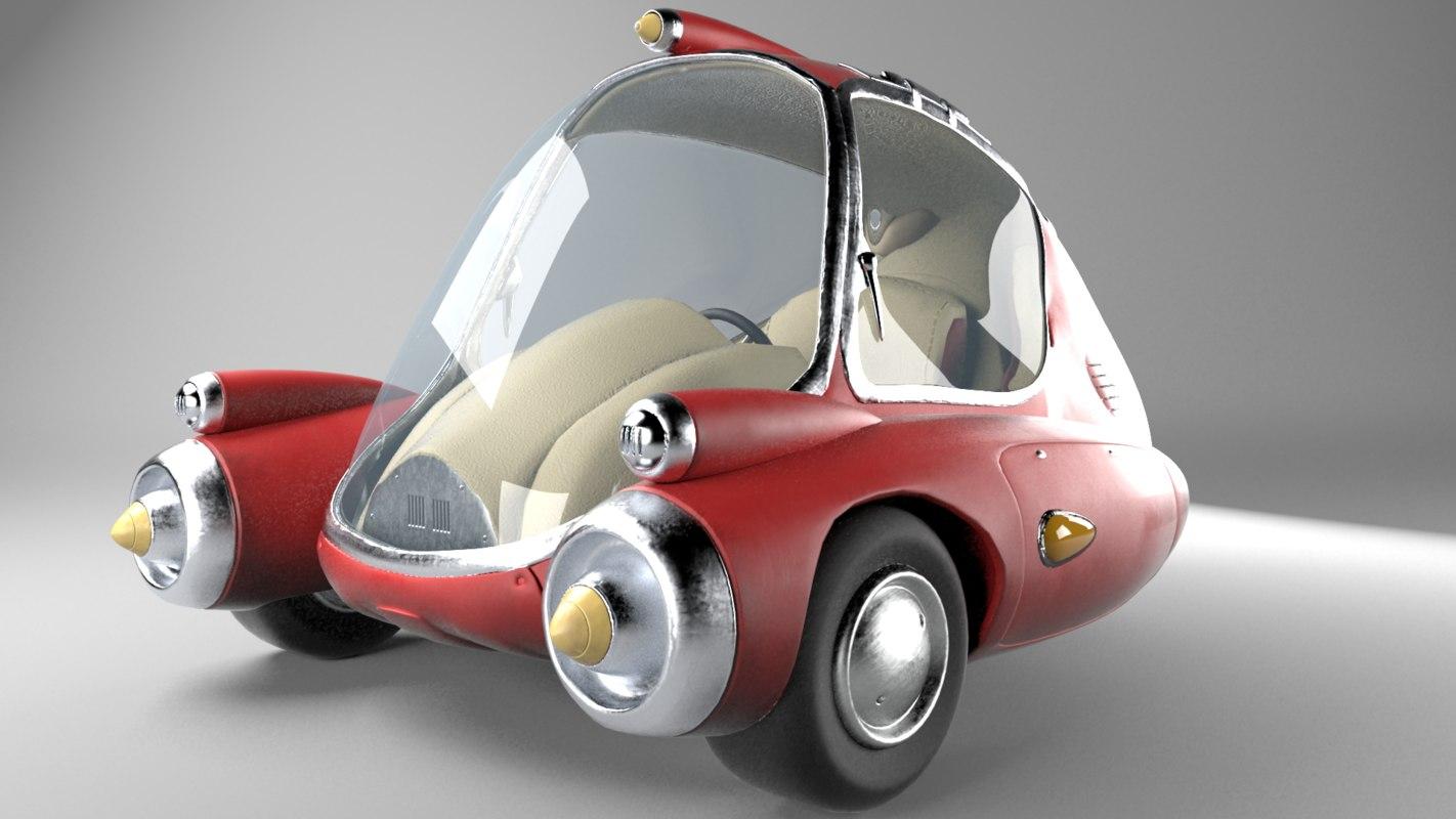 3D car fallout model