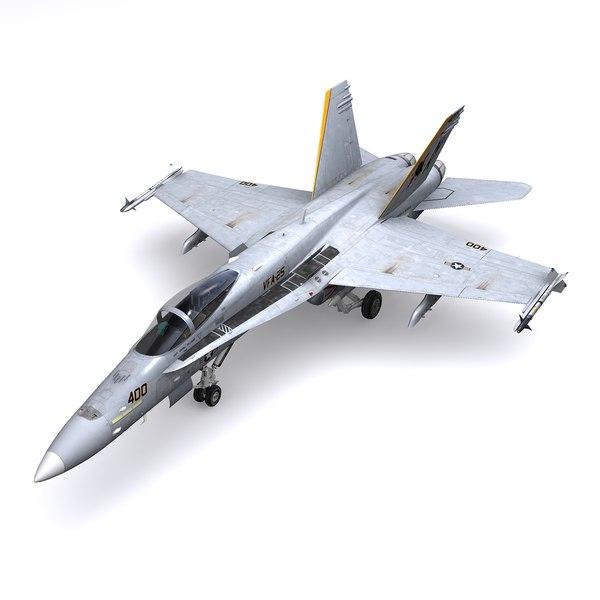 3D f hornet jet fighter