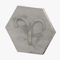 marble aries 3D model