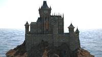gothic castle 3D