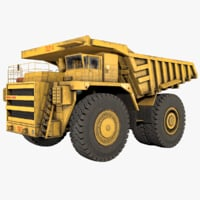 low-poly belaz 75214 model
