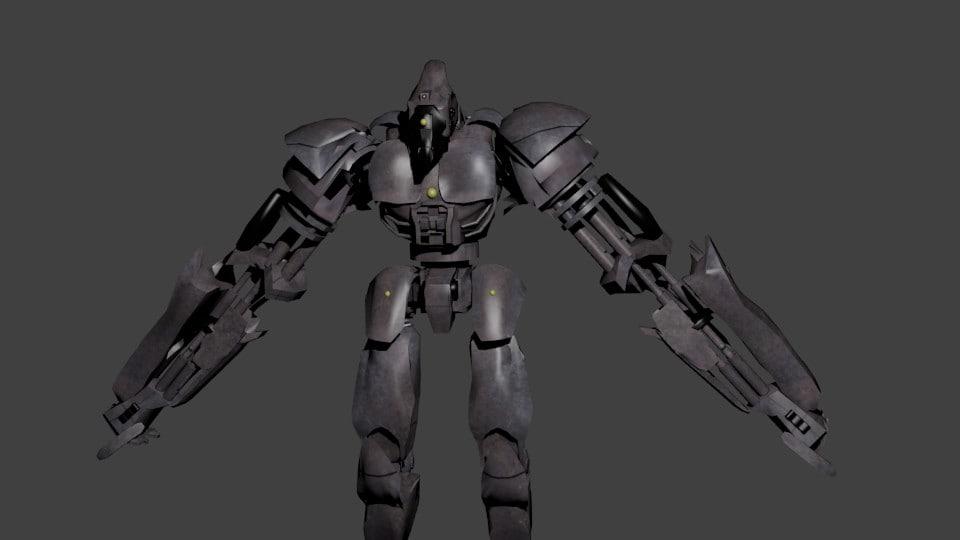 robot steel stee 3D model