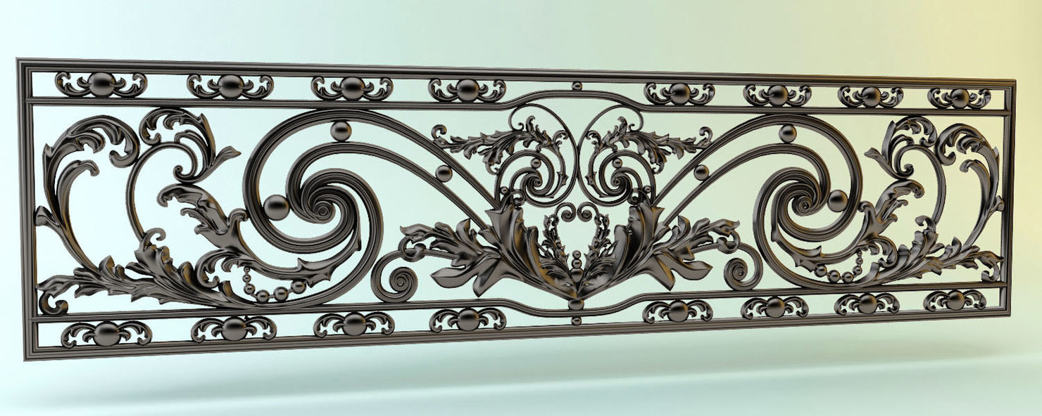 3D decor cast iron