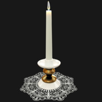 candlestick doily candles model