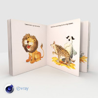 3D model book children open