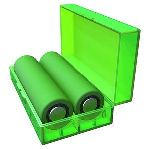 18650 battery case 3D model